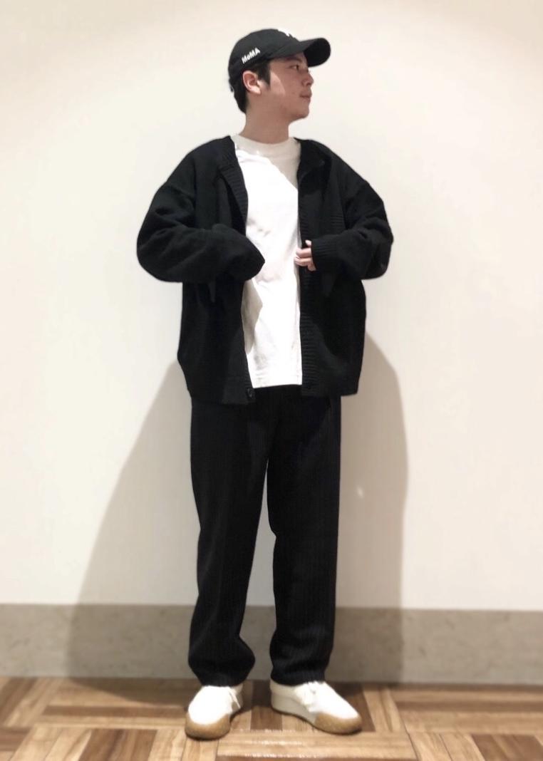 JUNRedのチョークストライプワイドパンツを使ったコーディネートを紹介します。|Rakuten Fashion(楽天ファッション/旧楽天ブランドアベニュー)1082932