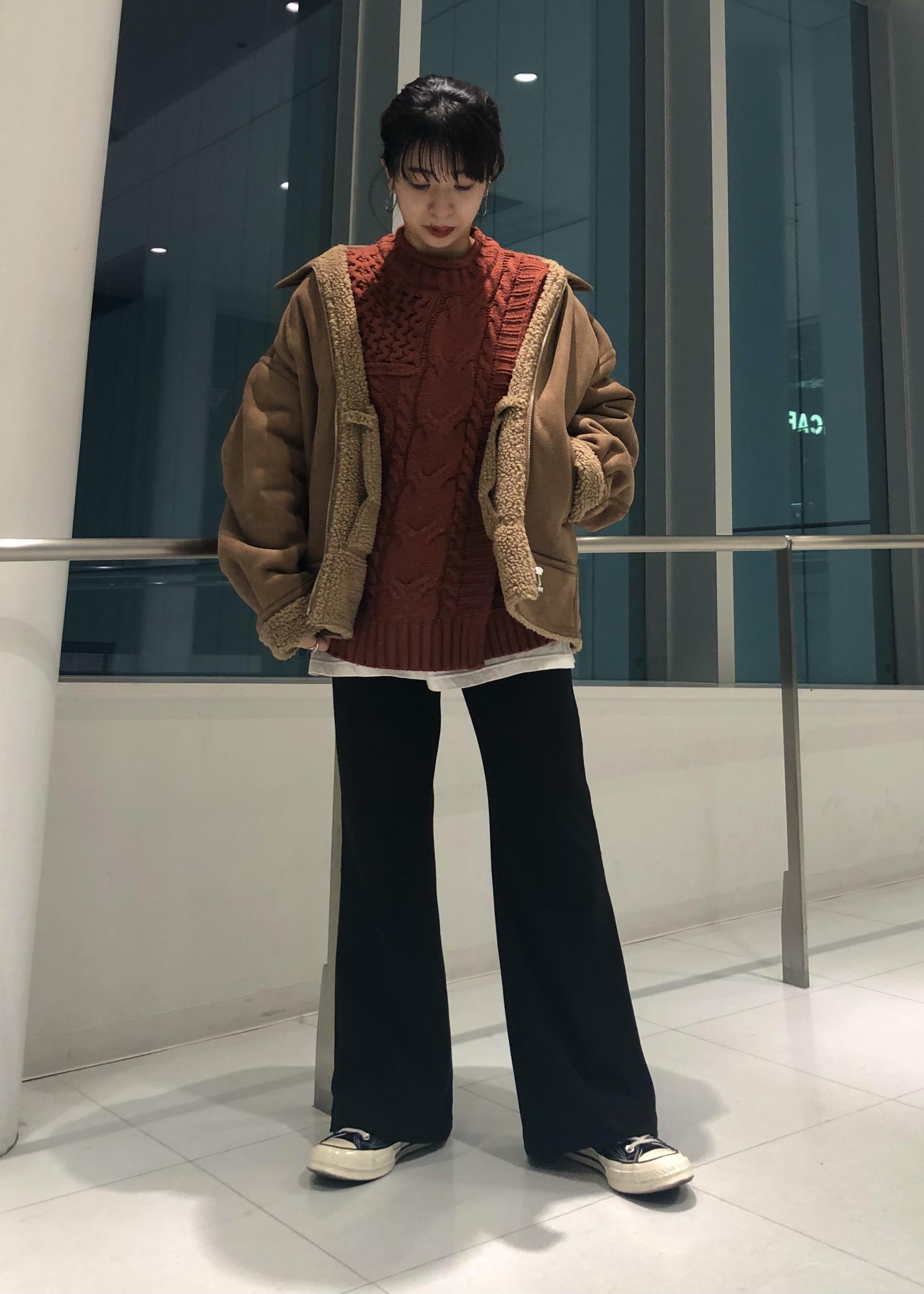 JUNRedのフェイクムートンショートブルゾンを使ったコーディネートを紹介します。 Rakuten Fashion(楽天ファッション/旧楽天ブランドアベニュー)1082739