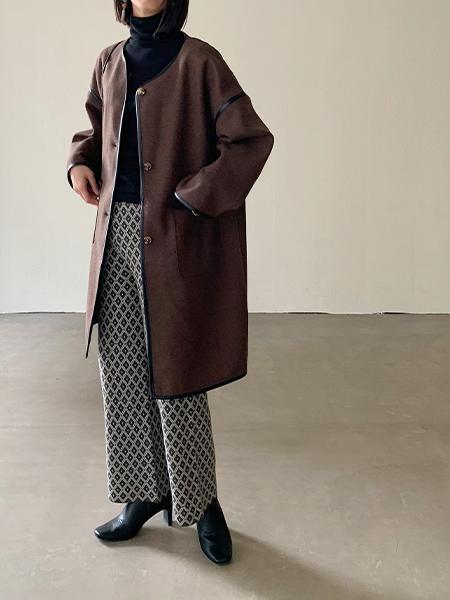 Shelly islandのShelly island/ジャガードニットパンツを使ったコーディネートを紹介します。|Rakuten Fashion(楽天ファッション/旧楽天ブランドアベニュー)1073300