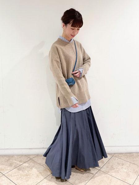 SLOBE IENAのEyreスムースニットプルオーバー◆を使ったコーディネートを紹介します。|Rakuten Fashion(楽天ファッション/旧楽天ブランドアベニュー)1073561