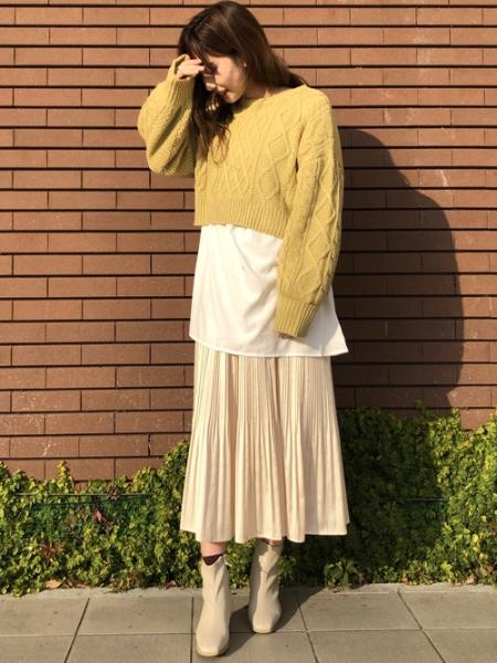 INGNIの3Gバックリボンニット+BL SETを使ったコーディネートを紹介します。|Rakuten Fashion(楽天ファッション/旧楽天ブランドアベニュー)1073865