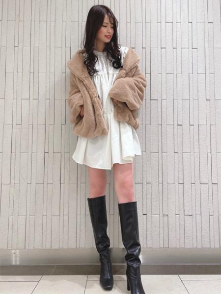 INGNIのショールカラーエコファーCTを使ったコーディネートを紹介します。|Rakuten Fashion(楽天ファッション/旧楽天ブランドアベニュー)1073877