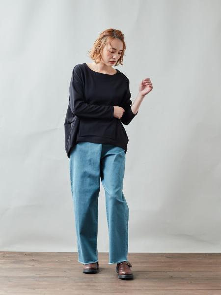 cepoのCEPO/(W)カラーデニムラップパンツを使ったコーディネートを紹介します。|Rakuten Fashion(楽天ファッション/旧楽天ブランドアベニュー)1074348