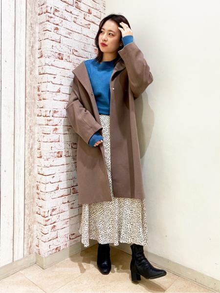 N. Natural Beauty Basic*のレオパードペプラムロングスカートを使ったコーディネートを紹介します。|Rakuten Fashion(楽天ファッション/旧楽天ブランドアベニュー)1074508