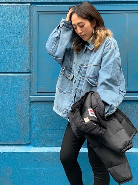 Levi'sのFILLMORE SHORT JACKET JET BLACKを使ったコーディネートを紹介します。|Rakuten Fashion(楽天ファッション/旧楽天ブランドアベニュー)1074784
