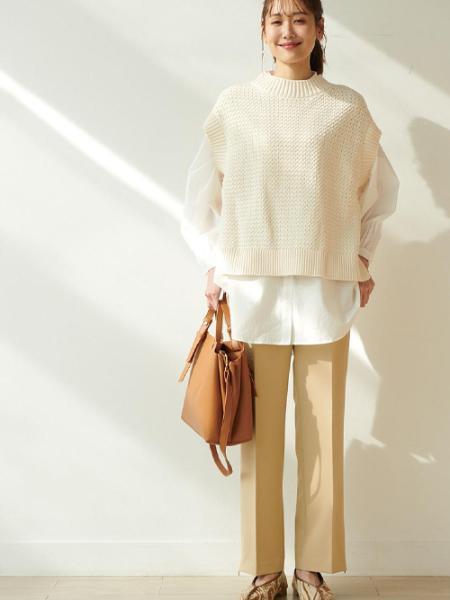 ROPE' PICNICの【軽量】スウェイハンドル5層ミドルトート&ショルダーバッグを使ったコーディネートを紹介します。|Rakuten Fashion(楽天ファッション/旧楽天ブランドアベニュー)1075466
