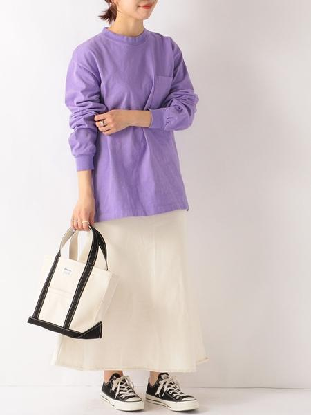 SHIPSの【SHIPS any別注】LOS ANGELES APPAREL: 8.5オンス ヘビーウェイト ポケット ロンT<WOMEN>を使ったコーディネートを紹介します。|Rakuten Fashion(楽天ファッション/旧楽天ブランドアベニュー)1076121