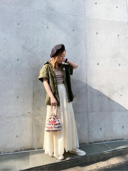 MILKFED.のLOGO PATTN DRWBAG MINIを使ったコーディネートを紹介します。|Rakuten Fashion(楽天ファッション/旧楽天ブランドアベニュー)1076400