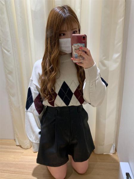 INGNIの7Gアーガイル柄ニットを使ったコーディネートを紹介します。|Rakuten Fashion(楽天ファッション/旧楽天ブランドアベニュー)1076489