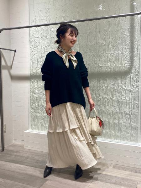 NOBLEの<<追加2>>ランダムティアードロングスカート◆を使ったコーディネートを紹介します。|Rakuten Fashion(楽天ファッション/旧楽天ブランドアベニュー)1079876