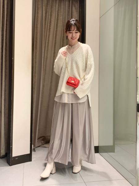 NOBLEのシアークロスフレアーパンツ◆を使ったコーディネートを紹介します。|Rakuten Fashion(楽天ファッション/旧楽天ブランドアベニュー)1079949