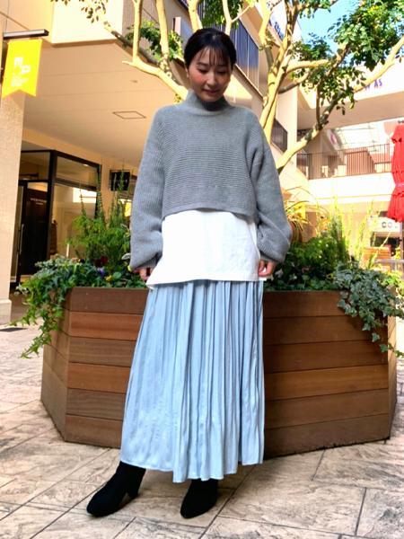 abahouse mavieのecru 横畦ハイネックロンTコンビセットを使ったコーディネートを紹介します。|Rakuten Fashion(楽天ファッション/旧楽天ブランドアベニュー)1081720