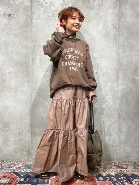 JOURNAL STANDARDのライトメモリーティアードスカート◆を使ったコーディネートを紹介します。|Rakuten Fashion(楽天ファッション/旧楽天ブランドアベニュー)1081714