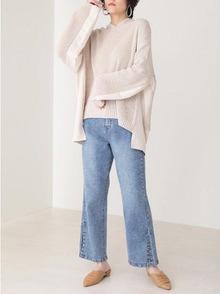 Bou Jeloudのデニムコンビフードニットプルオーバーを使ったコーディネートを紹介します。 Rakuten Fashion(楽天ファッション/旧楽天ブランドアベニュー)1081306
