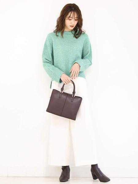 MK MICHEL KLEINの【洗える】スタンドネックカラーニットを使ったコーディネートを紹介します。|Rakuten Fashion(楽天ファッション/旧楽天ブランドアベニュー)1081943