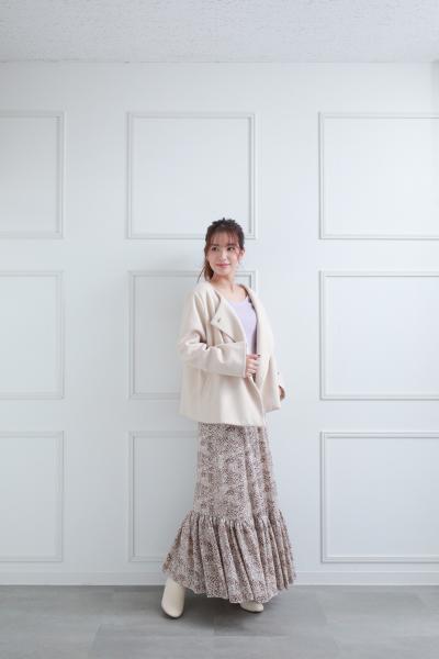 clearのVネックベーシックリブニットトップスを使ったコーディネートを紹介します。|Rakuten Fashion(楽天ファッション/旧楽天ブランドアベニュー)1082107