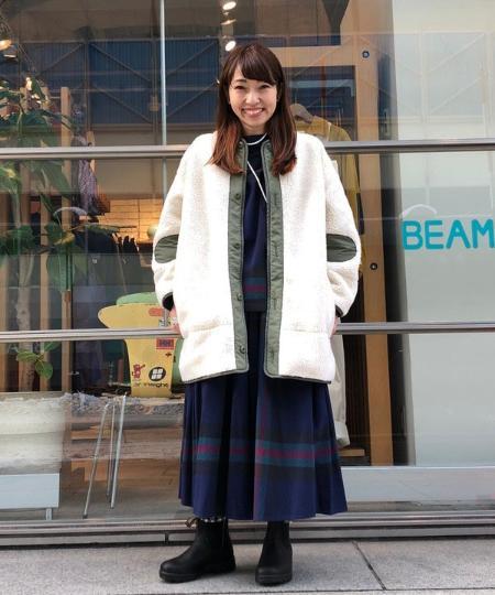 BEAMS WOMENのBEAMS BOY / ビッグ タータン ハイネック プルオーバーを使ったコーディネートを紹介します。|Rakuten Fashion(楽天ファッション/旧楽天ブランドアベニュー)1082111