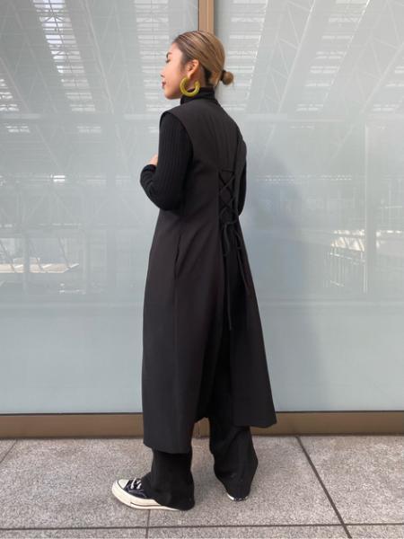 N. Natural Beauty Basic*のバックレースアップジレワンピースを使ったコーディネートを紹介します。|Rakuten Fashion(楽天ファッション/旧楽天ブランドアベニュー)1082182
