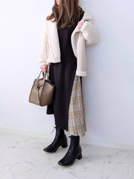 ARIESのa.n.l/フェイクムートンボアライダースジャケットを使ったコーディネートを紹介します。|Rakuten Fashion(楽天ファッション/旧楽天ブランドアベニュー)1082441