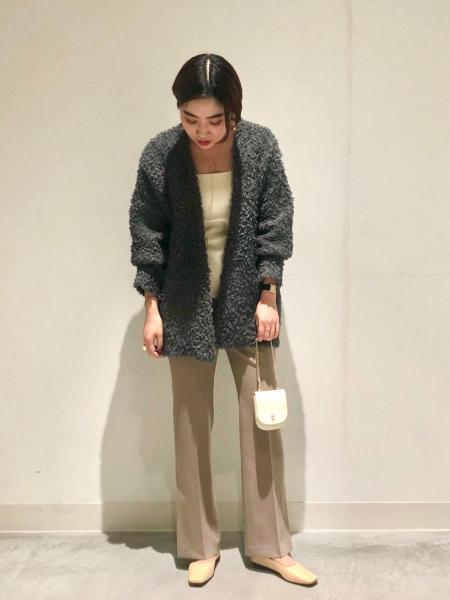 NOBLEのコットンフェザーカーディガンを使ったコーディネートを紹介します。|Rakuten Fashion(楽天ファッション/旧楽天ブランドアベニュー)1083001