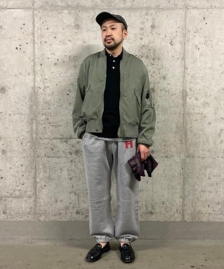 BEAMS MENのBEAMS PLUS / サテン フライトジャケットを使ったコーディネートを紹介します。|Rakuten Fashion(楽天ファッション/旧楽天ブランドアベニュー)1083243