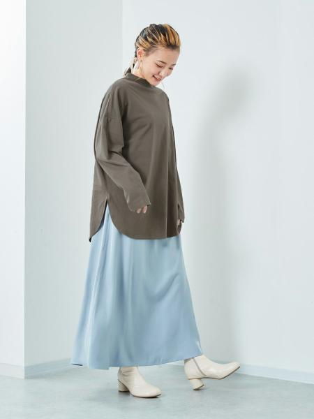 cepoのCEPO/(W)モックネックシャツテイルPOを使ったコーディネートを紹介します。|Rakuten Fashion(楽天ファッション/旧楽天ブランドアベニュー)1083365