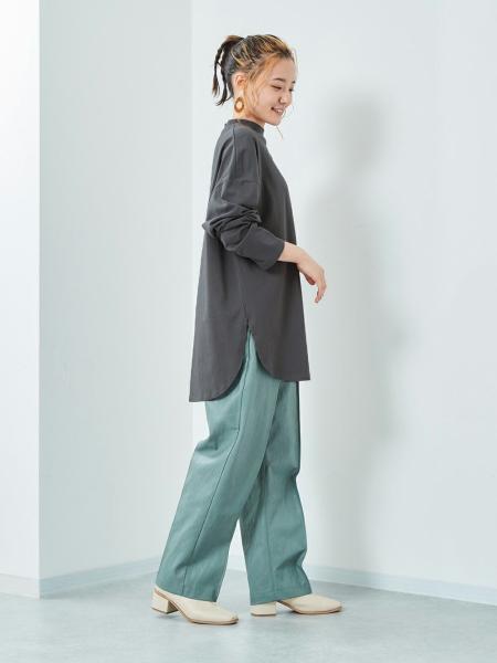 cepoのCEPO/(W)モックネックシャツテイルPOを使ったコーディネートを紹介します。|Rakuten Fashion(楽天ファッション/旧楽天ブランドアベニュー)1083391