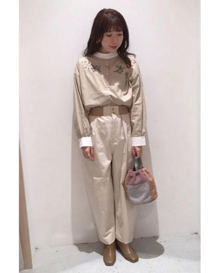 POU DOU DOUのウエストリブ使いコクーンパンツを使ったコーディネートを紹介します。 Rakuten Fashion(楽天ファッション/旧楽天ブランドアベニュー)1084437