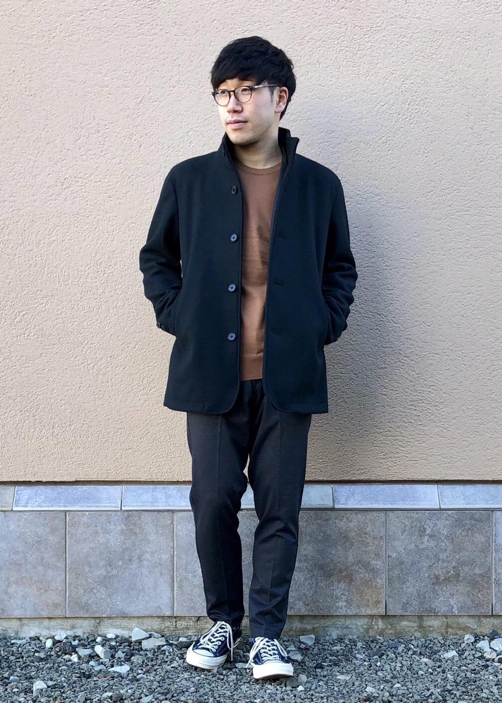 JUNRedのTRニット総柄PT 2Bジャケットを使ったコーディネートを紹介します。|Rakuten Fashion(楽天ファッション/旧楽天ブランドアベニュー)1086607