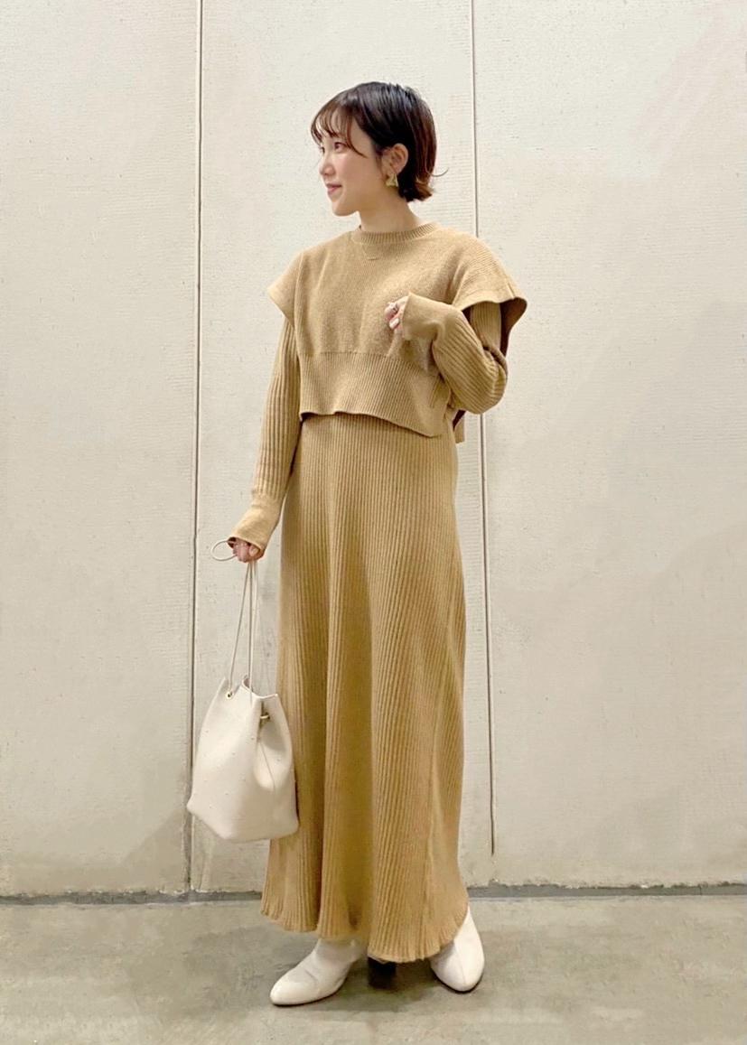 ROPE' PICNICの【マシンウォッシャブル】ベスト付きニットワンピースを使ったコーディネートを紹介します。|Rakuten Fashion(楽天ファッション/旧楽天ブランドアベニュー)1086998