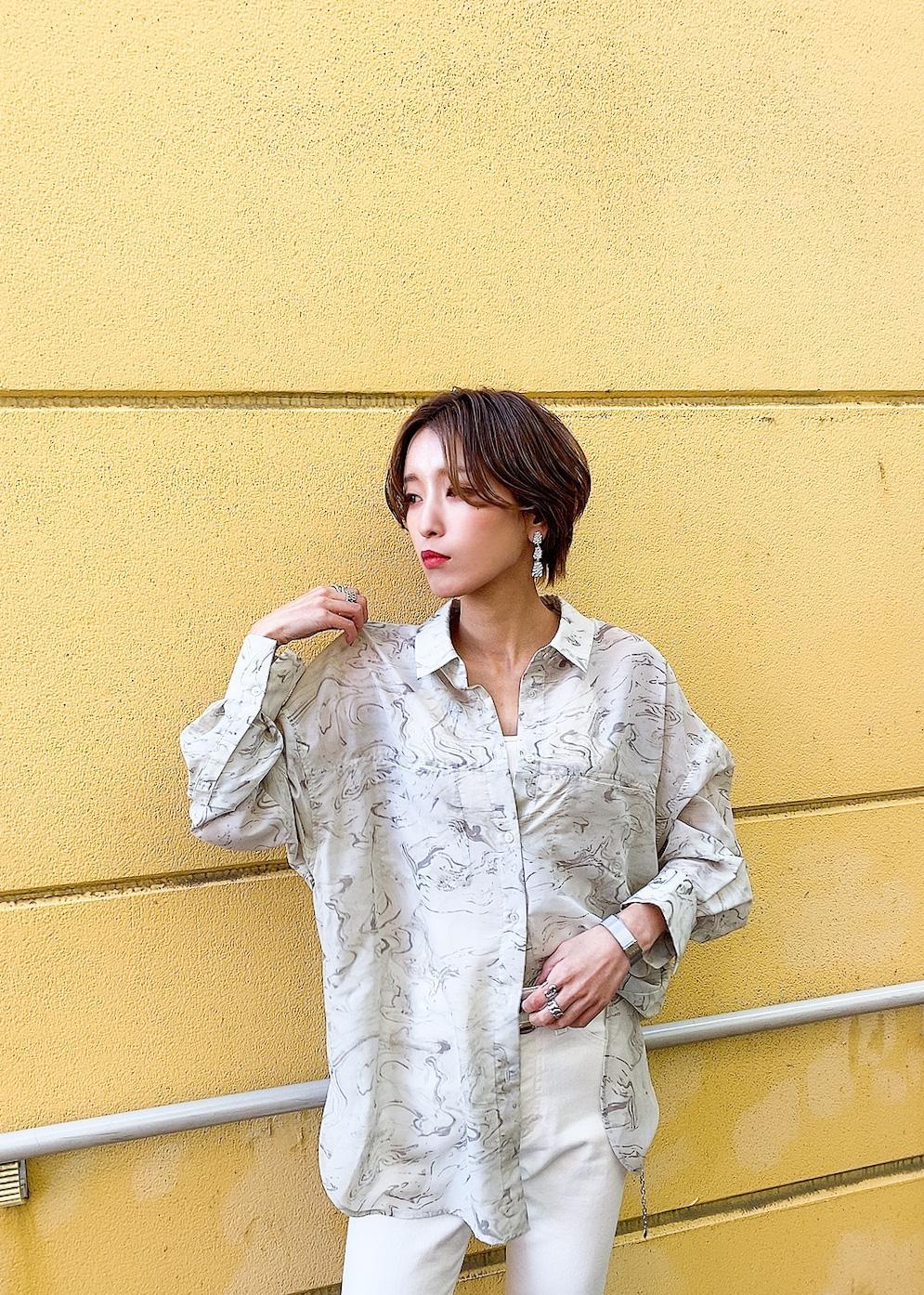 ViSの【選べる着丈】シアービッグシャツを使ったコーディネートを紹介します。|Rakuten Fashion(楽天ファッション/旧楽天ブランドアベニュー)1089129
