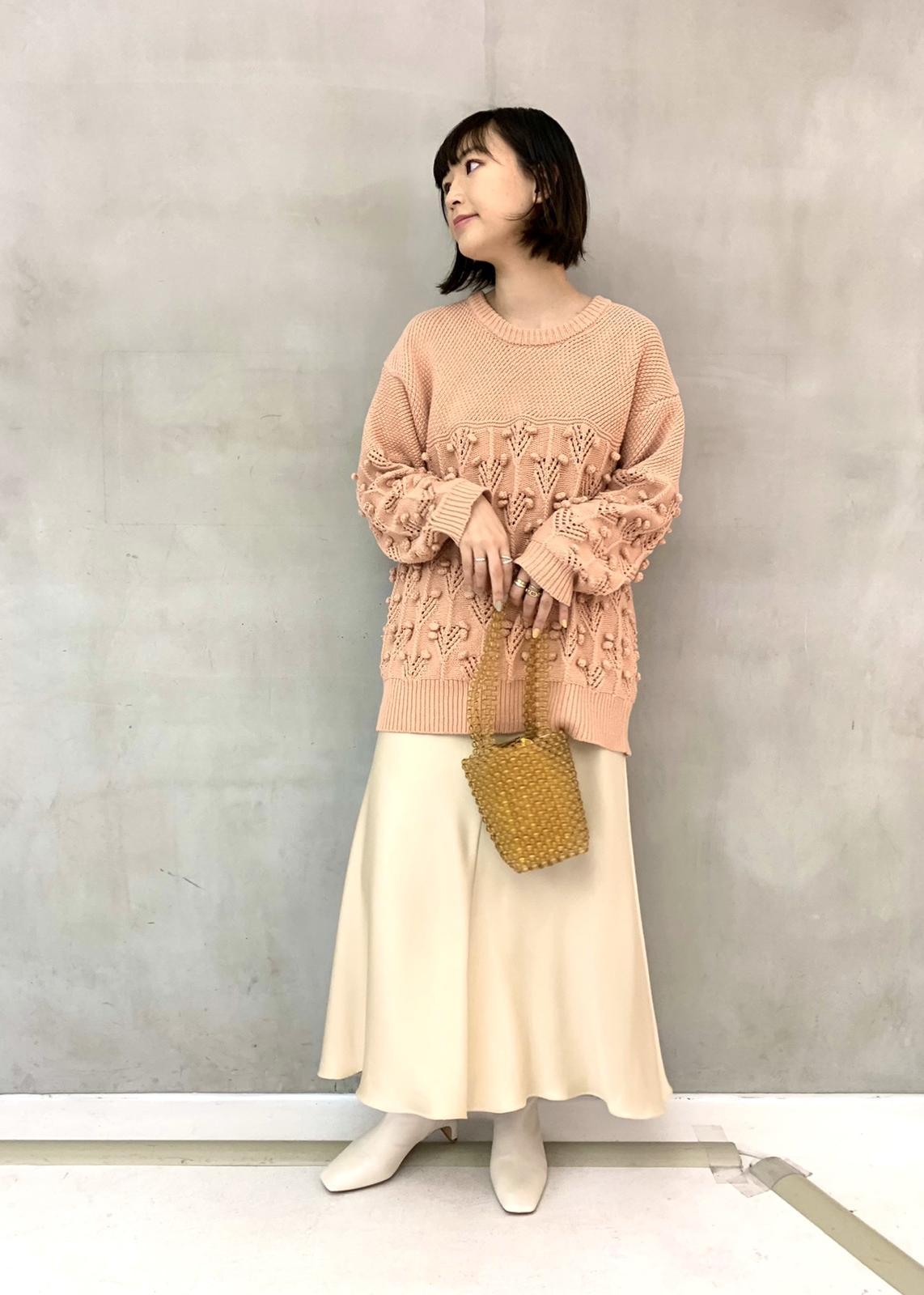 ROPE'のスプリングポップコーンニットプルオーバーを使ったコーディネートを紹介します。|Rakuten Fashion(楽天ファッション/旧楽天ブランドアベニュー)1090304