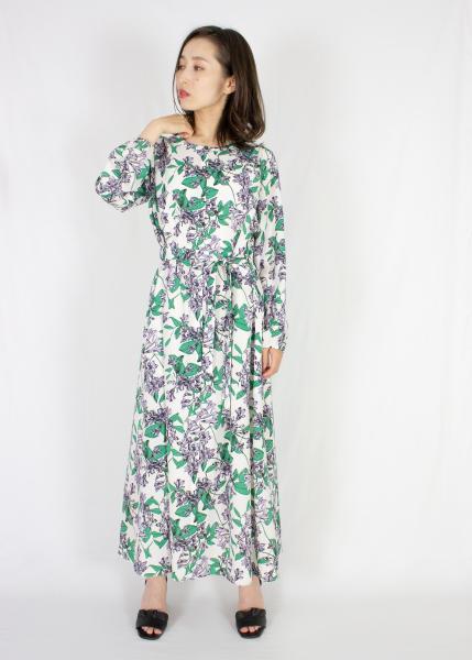 plein de vieのpleindevie/エンジェルトランペット プリントワンピースを使ったコーディネートを紹介します。|Rakuten Fashion(楽天ファッション/旧楽天ブランドアベニュー)1084632