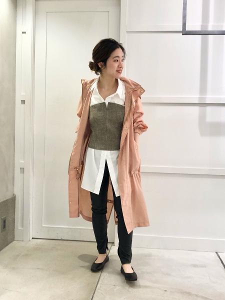 NOBLEの<<追加>>60/1イージーケアオーバーコクーンシャツ◆を使ったコーディネートを紹介します。|Rakuten Fashion(楽天ファッション/旧楽天ブランドアベニュー)1085103