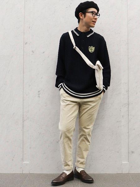 COMME CA ISMのケーブル ニット ポロを使ったコーディネートを紹介します。|Rakuten Fashion(楽天ファッション/旧楽天ブランドアベニュー)1085255