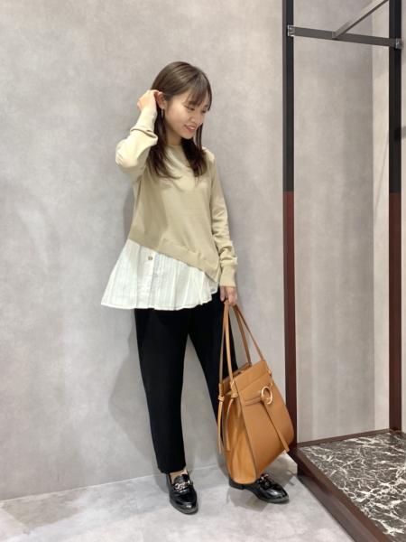 CAST:のシャツレイヤードコントラストニットを使ったコーディネートを紹介します。|Rakuten Fashion(楽天ファッション/旧楽天ブランドアベニュー)1085800