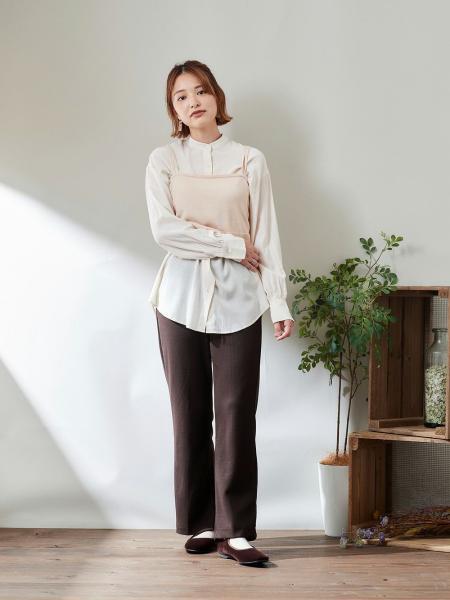 cepoのCEPO/(W)カットカルゼフレアーパンツを使ったコーディネートを紹介します。|Rakuten Fashion(楽天ファッション/旧楽天ブランドアベニュー)1085948