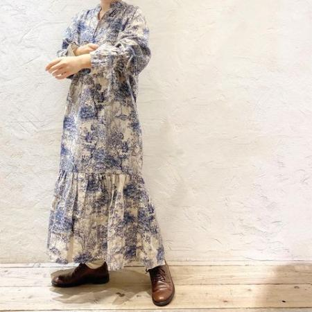RNA-NのD1532 風景画柄リネンワンピースを使ったコーディネートを紹介します。|Rakuten Fashion(楽天ファッション/旧楽天ブランドアベニュー)1085999