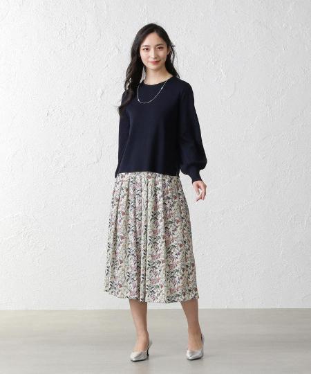 AMACAのブライトレーヨンニットを使ったコーディネートを紹介します。|Rakuten Fashion(楽天ファッション/旧楽天ブランドアベニュー)1086221