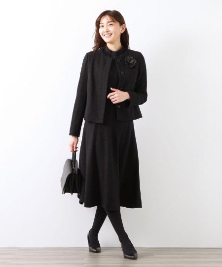AMACAの◆◆ライトツイードフレアスカートを使ったコーディネートを紹介します。|Rakuten Fashion(楽天ファッション/旧楽天ブランドアベニュー)1086222