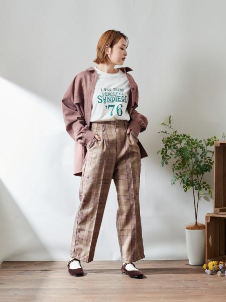 cepoのCEPO/(W)USAコットンプリントL/STを使ったコーディネートを紹介します。|Rakuten Fashion(楽天ファッション/旧楽天ブランドアベニュー)1087415