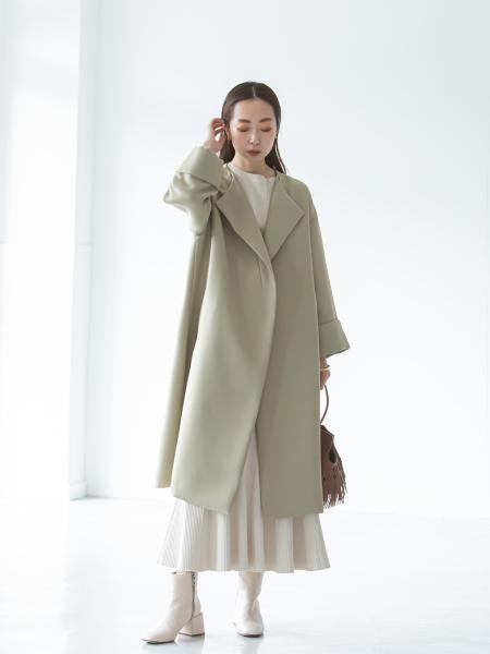 NOBLEのトリプルクロスガウンコートを使ったコーディネートを紹介します。|Rakuten Fashion(楽天ファッション/旧楽天ブランドアベニュー)1087454