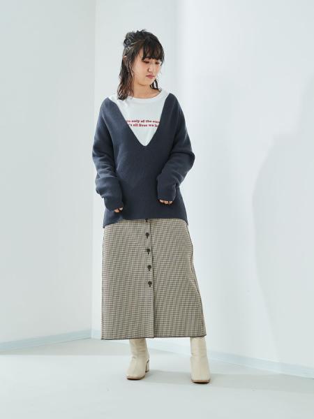 cepoのCEPO/(W)ニットXロゴTアンサンブルを使ったコーディネートを紹介します。|Rakuten Fashion(楽天ファッション/旧楽天ブランドアベニュー)1087693