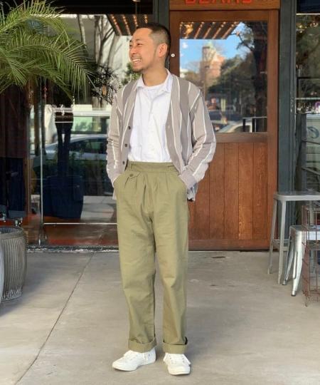 BEAMS MENのBEAMS PLUS / ストライプ カーディガンを使ったコーディネートを紹介します。|Rakuten Fashion(楽天ファッション/旧楽天ブランドアベニュー)1087742