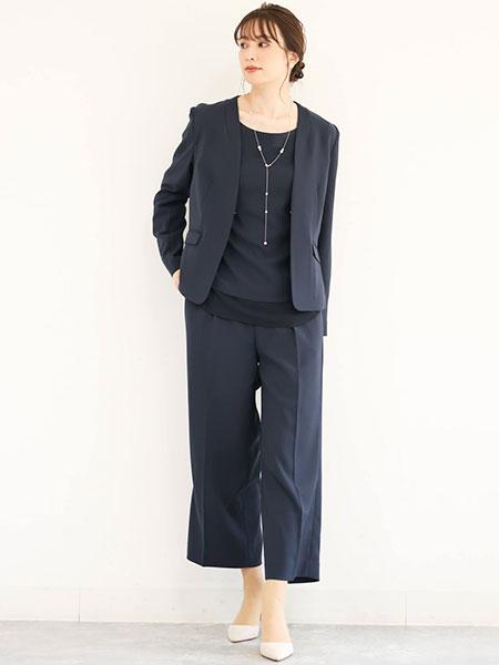 MK MICHEL KLEINの【制菌加工/洗える】ベーシックワイドパンツを使ったコーディネートを紹介します。|Rakuten Fashion(楽天ファッション/旧楽天ブランドアベニュー)1087784