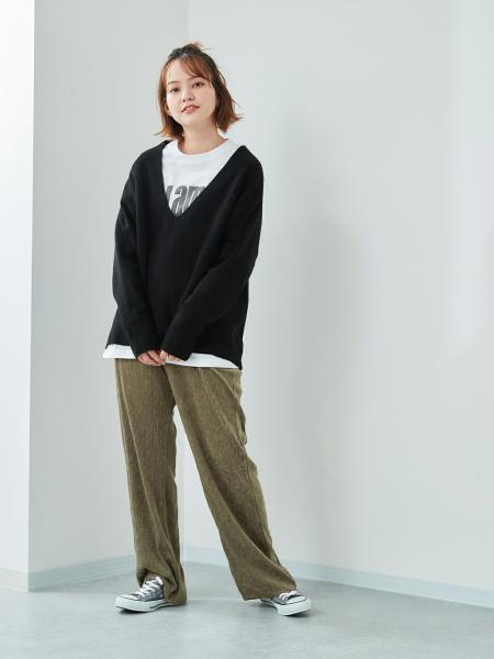 cepoのCEPO/(W)センターリブV/NPOを使ったコーディネートを紹介します。|Rakuten Fashion(楽天ファッション/旧楽天ブランドアベニュー)1087881