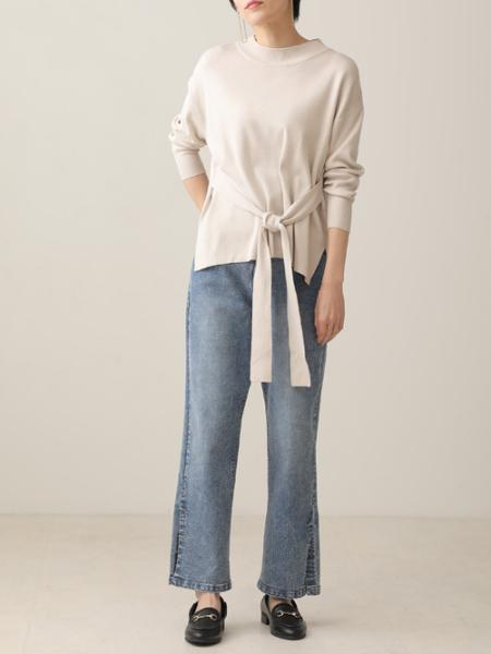 Bou Jeloudのまろやか風総針ウエストベルトニットPOを使ったコーディネートを紹介します。|Rakuten Fashion(楽天ファッション/旧楽天ブランドアベニュー)1087924