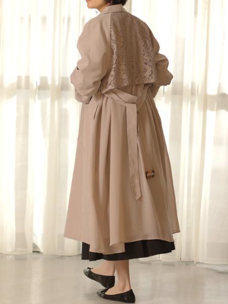 Bou Jeloudのバックレース×シフォントレンチを使ったコーディネートを紹介します。|Rakuten Fashion(楽天ファッション/旧楽天ブランドアベニュー)1089545