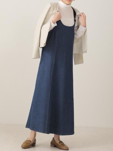 Bou JeloudのデニムJSKを使ったコーディネートを紹介します。|Rakuten Fashion(楽天ファッション/旧楽天ブランドアベニュー)1089525