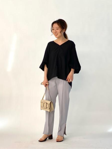 NOBLEのサイドジップパンツを使ったコーディネートを紹介します。|Rakuten Fashion(楽天ファッション/旧楽天ブランドアベニュー)1089645